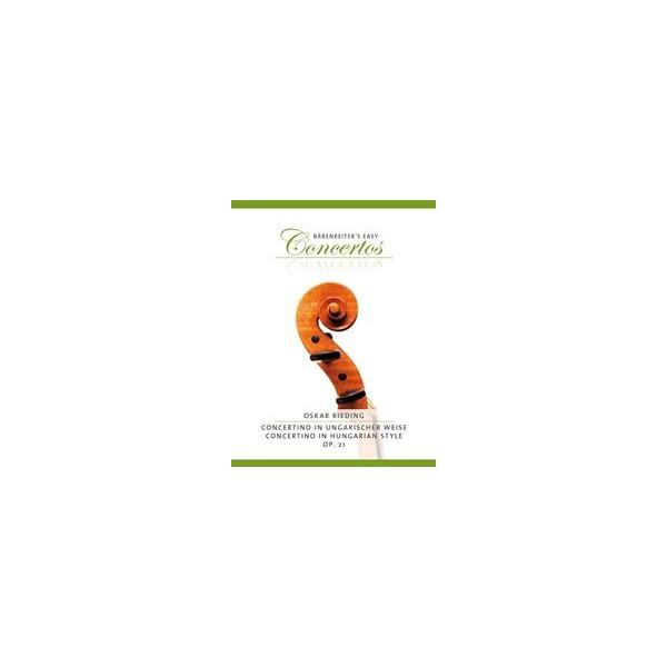 Concertino in Hungarian Style for Violin Op.21 Violin and Piano - Oskar Rieding / Oskar Rieding