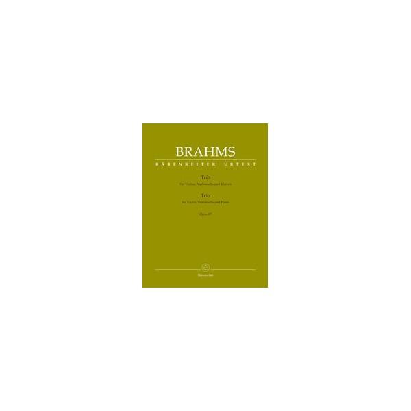 Piano Trio in C major Op.87 Score & Parts - Johannes Brahms