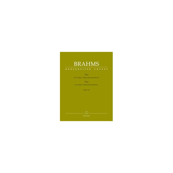Piano Trio in C minor, Op.101 Score & Parts - Johannes Brahms