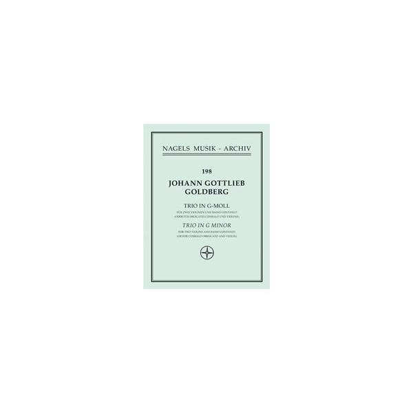 Trio in G minor (Sonata No. 5) - Johann Gottlieb Goldberg
