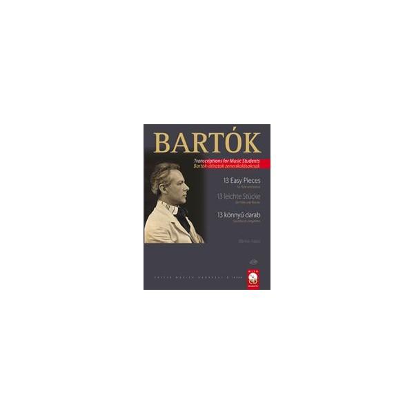 Bartok, Bela - Thirteen Easy Pieces for Flute & Piano