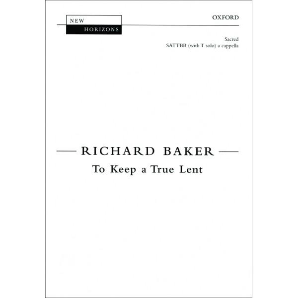 To Keep a True Lent - Baker, Richard