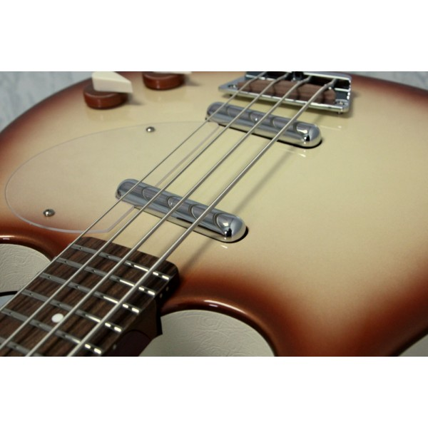 Danelectro '58 Longhorn Copper Burst Electric Bass Guitar