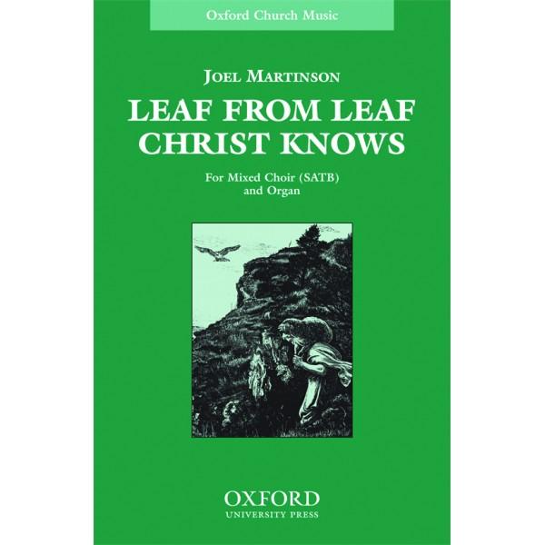 Leaf from leaf Christ knows - Martinson, Joel