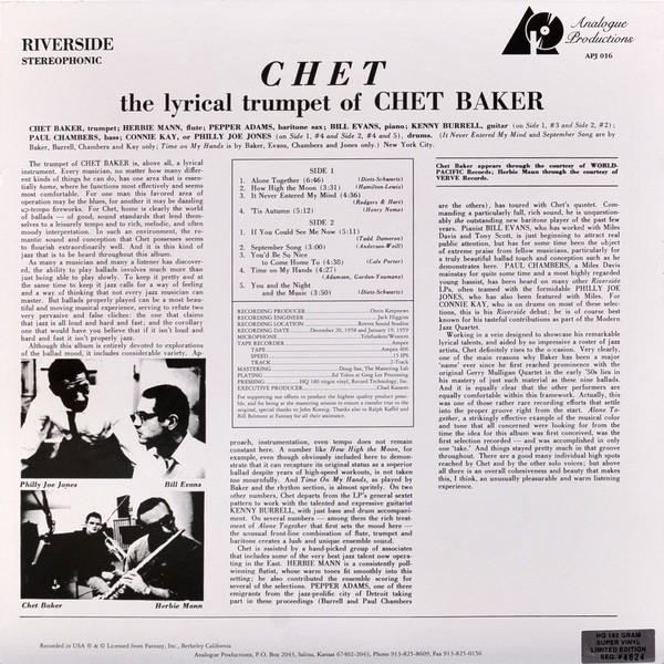 Chet Baker - Chet - Vinyl