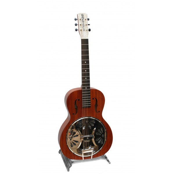 Gretsch G9200 Boxcar Round neck resonator guitar in natural