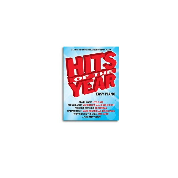 Hits of the Year (2015) Easy Piano
