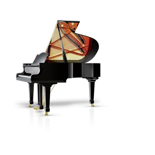Wilhelm-Schimmel W180T Grand Piano in black polyester