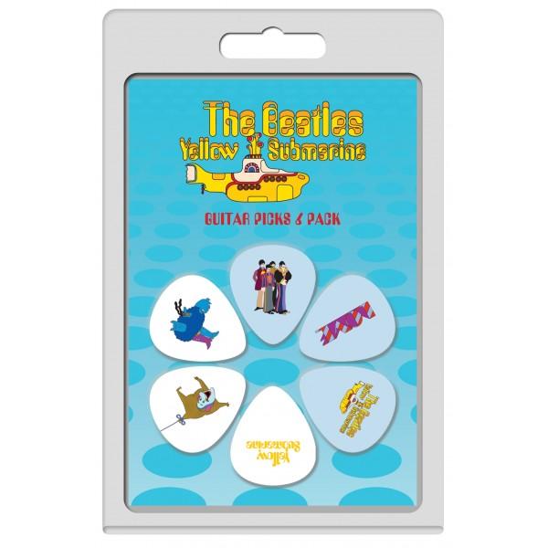 Perri's The Beatles Yellow Submarine LP-TB3 6-pack guitar picks