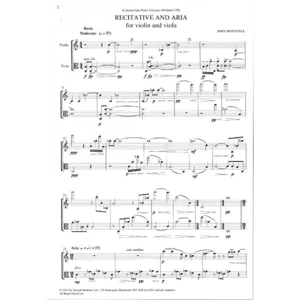 Manduell, John - Recitative and Aria - Duet for Violin and Viola (or Cello)