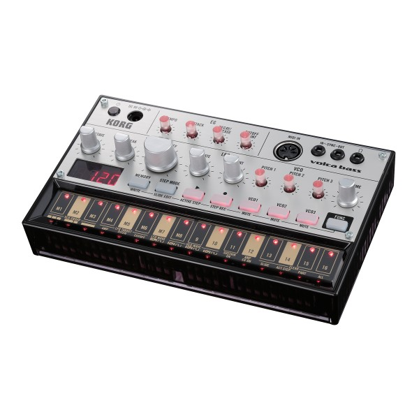KORG VOLCA BASS Analogue bass synthesiser with step sequencer