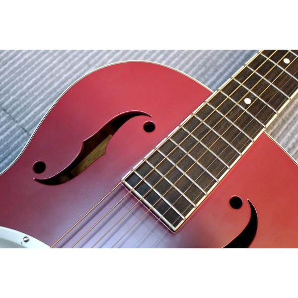 Gretsch G9241 Alligator Biscuit round neck electro acoustic resonator guitar in cheiftain red