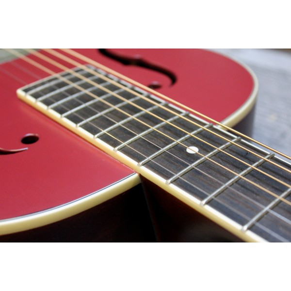 Gretsch G9241 Alligator Biscuit round neck electro acoustic resonator guitar in cheiftain red