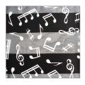 Black musical scarf