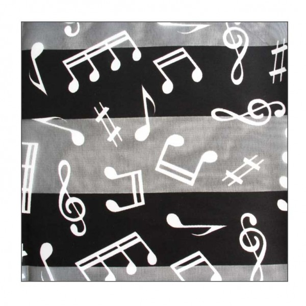 Black musical scarf