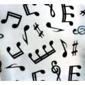White musical scarf