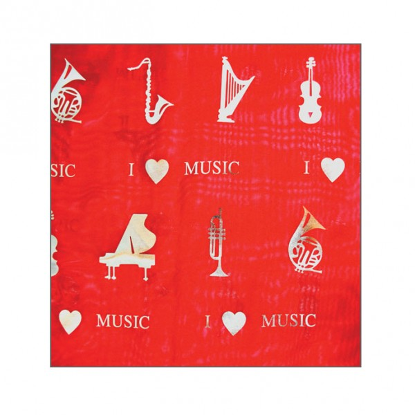 Red musical scarf