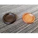 Medium wooden castor cups. (60mm internal diameter black and laurel)