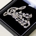 Rhinestone Music Brooch