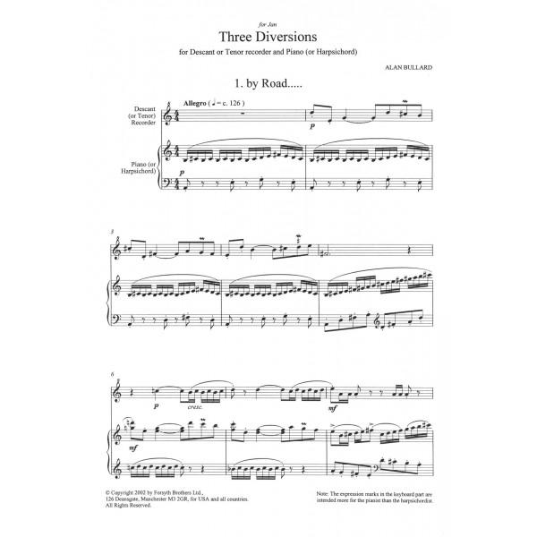 Three Diversions - Bullard, Alan