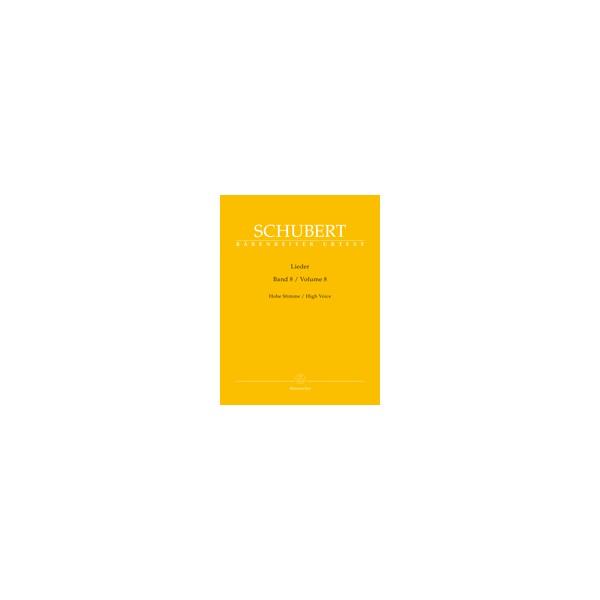 Schubert, Franz - Lieder, Volume Eight (High)