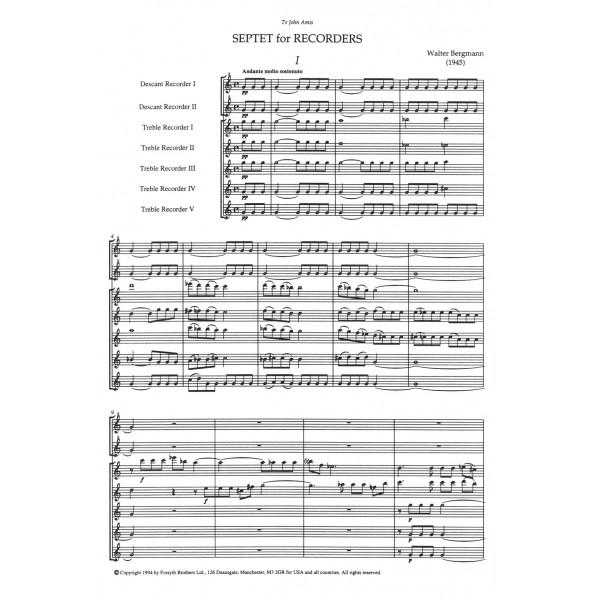 Septet for Recorders - Bergmann, Walter