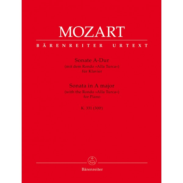 Mozart, W A - Piano Sonata in A major, K311 (300i)