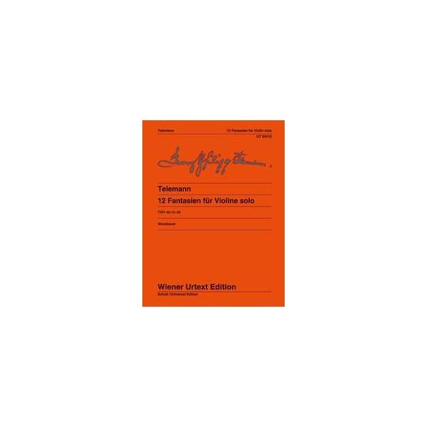 Telemann, G P - Twelve Fantasias for Solo Violin