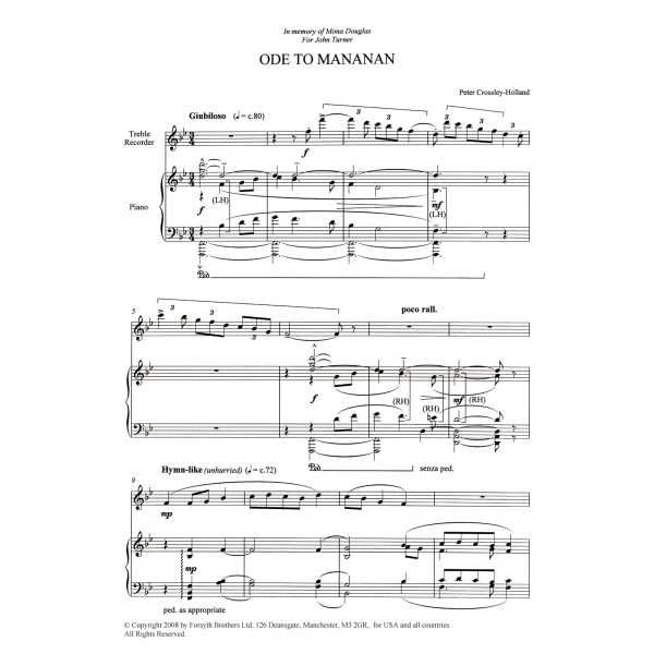 Ode To Mananan - Crossley-Holland, Peter