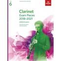 ABRSM Grade 6 Clarinet Exam Pieces 2018–2021