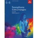 ABRSM Grades 6–8 Saxophone Scales & Arpeggios from 2018