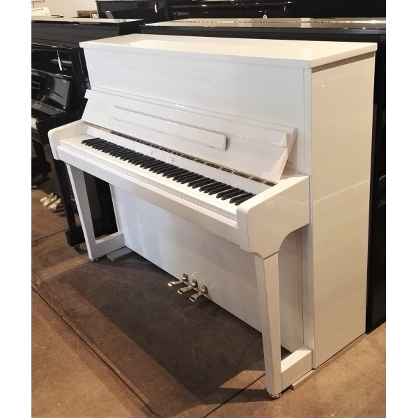 Wilhelm Schimmel W114T Upright Piano in White Polyester
