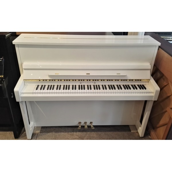 Wilhelm Schimmel W118T Upright Piano in White Polyester