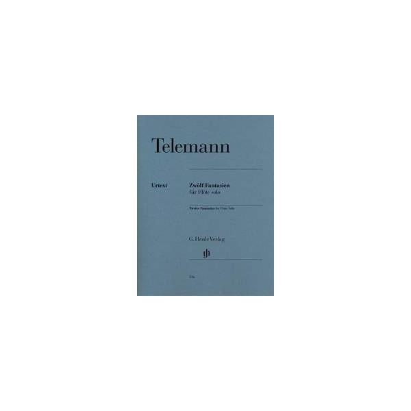 Telemann, G P - 12 Fantasias for Solo Flute, TWV40:2-13