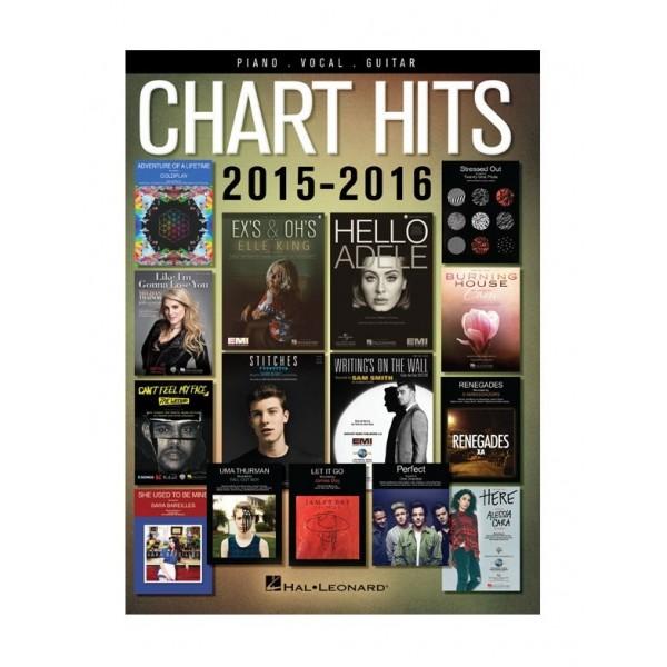 Chart Hits of 2015-2016 (Piano, Vocal, Guitar)