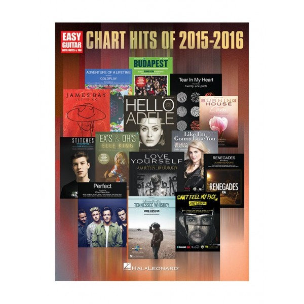 Chart Hits Of 2015-2016 (Easy Guitar)