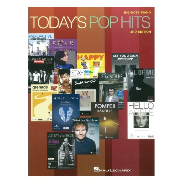 Today's Pop Hits - 3rd Edition (Big Note Piano)