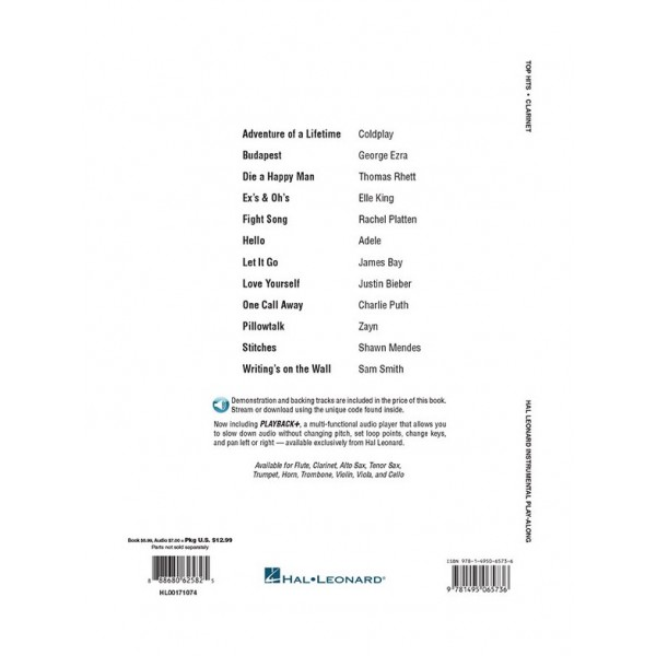 Top Hits - Clarinet Play-Along