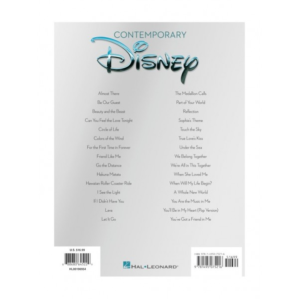 Contemporary Disney - 30 Favorite Songs (Easy Guitar)