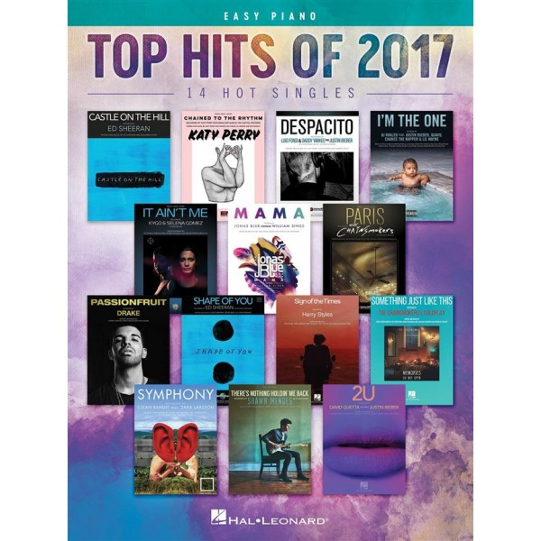 Top Hits of 2017 (Piano, Vocal, Guitar)