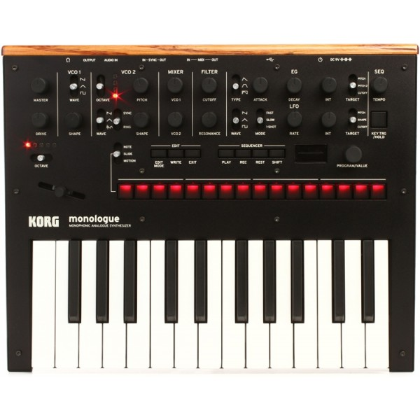 Korg Monologue Analogue Monophonic Synthesiser - Black