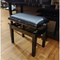 CGM 125ET Leather Top Single Adjustable Piano Stool **BEST SELLER** by CGM