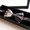 Bow Tie (Silk Keyboard & Black Manuscript)