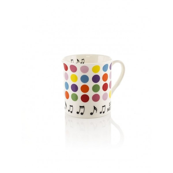 Love Music Mug (Little Snoring Colour Block Spots)