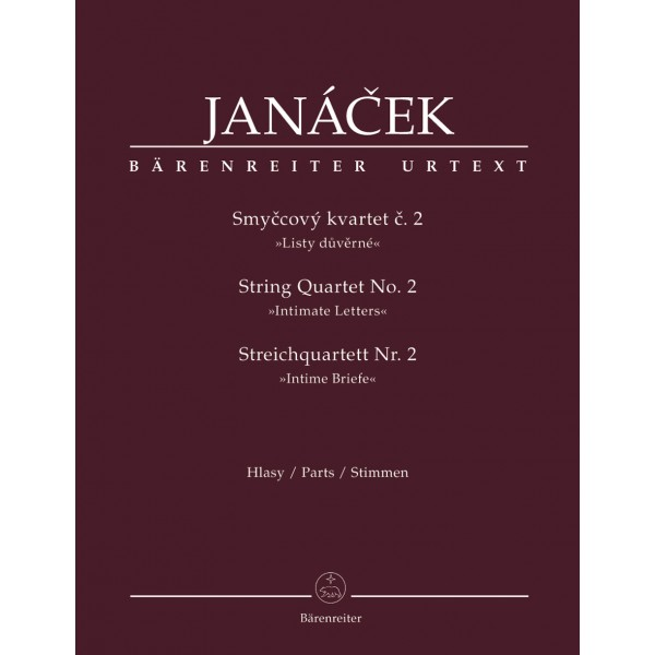 "Janacek, String Quartet No. 2 ""Intimate Letters"" (Parts)"