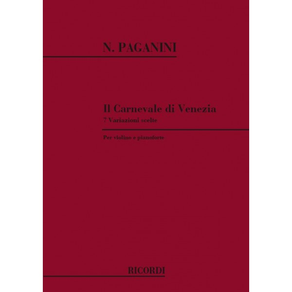 Paganini, The Carnival of Venice (Violin & Piano)