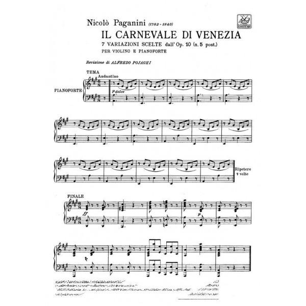 Paganini, The Carnival of Venice (Violin & Piano)