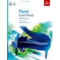 ABRSM Piano Exam Pieces 2019 & 2020, Grade 4 (Four), with CD