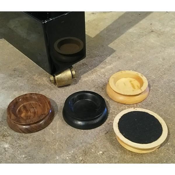 40mm castor cups (wood)