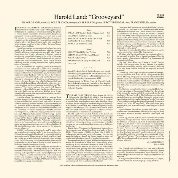 Land, Harold - Grooveyard (LP)